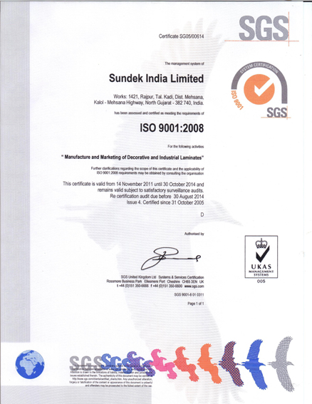ISO CERTIFICATE 10-5-2014
