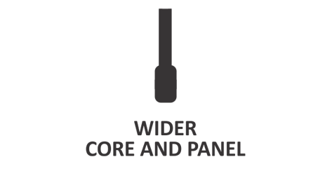 Wider Core And Panel