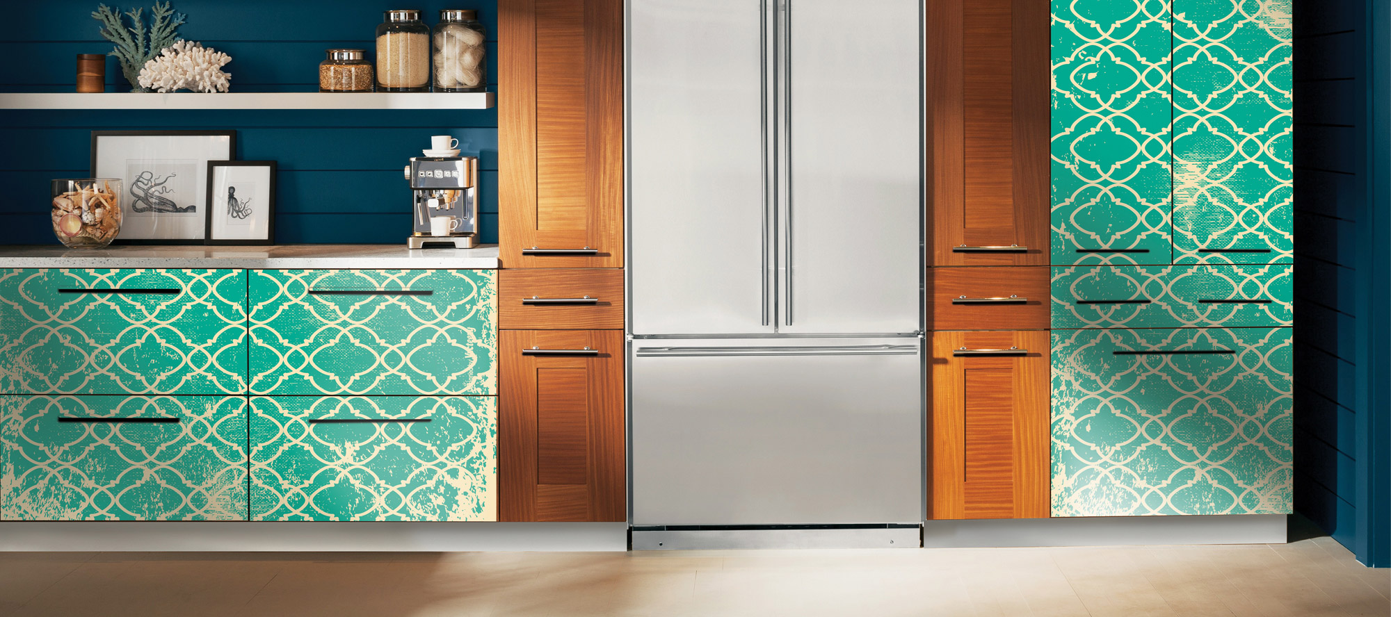 D'infinity, Abstrakt Kreatif Digital Laminates For Kitchen-Sundek International