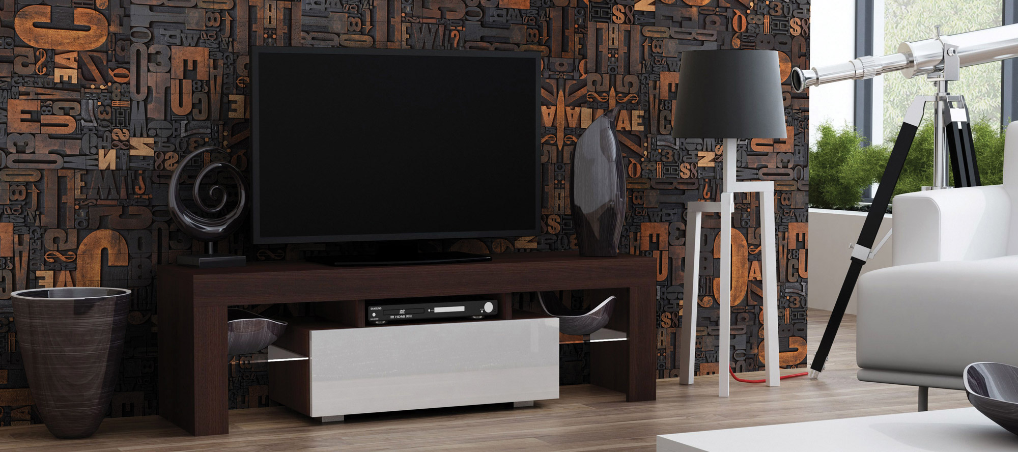 D'infinity, Arte Woodz of Digital Laminates for TV Unit-Sundek International