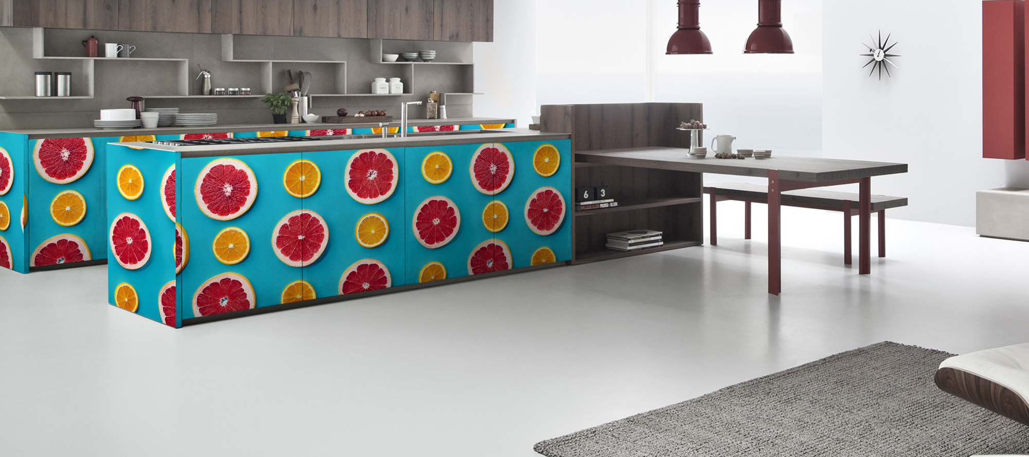 D'infinity, Colore Spektrum Floral Laminates For Kitchen-Sundek International