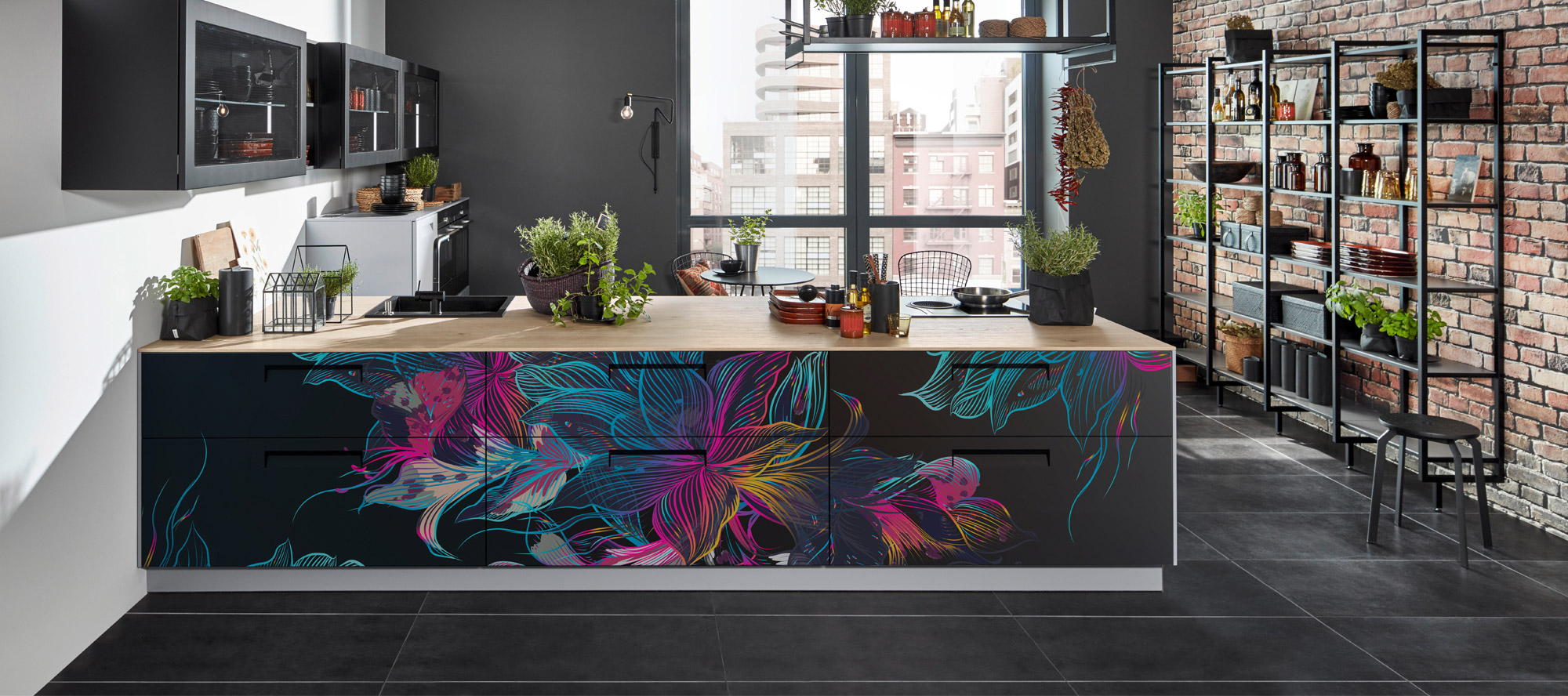 D'infinity, Flowery World Laminates For Kitchen-Sundek International