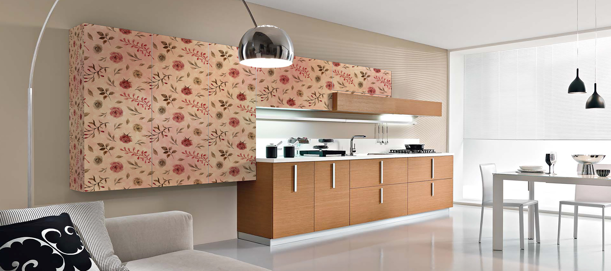 D'infinity, Flowery World Digital Laminates For Kitchen-Sundek International