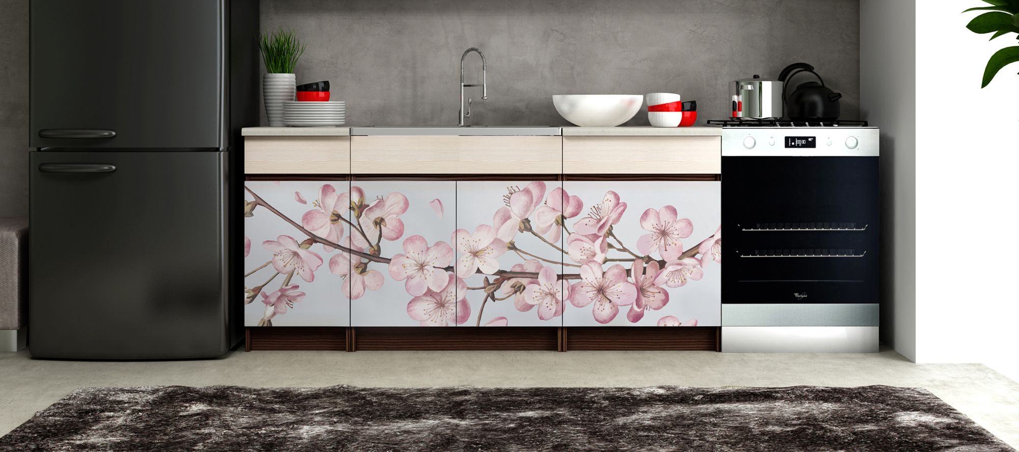 D'infinity, Flowery World floral laminates for kitchen-Sundek International